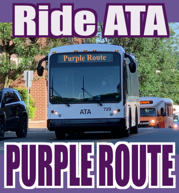 RideATA Purple Route - Downtown - Hospital